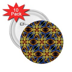 Vibrant Medieval Check 2 25  Buttons (10 Pack)  by dflcprints