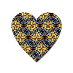 Vibrant Medieval Check Heart Magnet by dflcprints