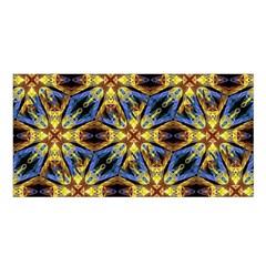 Vibrant Medieval Check Satin Shawl by dflcprints