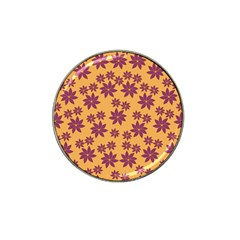 Purple And Yellow Flower Shower Hat Clip Ball Marker (10 Pack) by CircusValleyMall