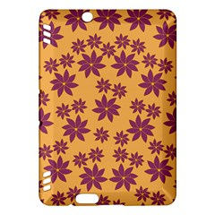 Purple And Yellow Flower Shower Kindle Fire Hdx Hardshell Case by CircusValleyMall