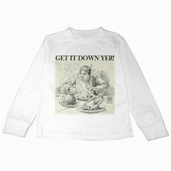 Get It Down Yer! By Ignatius Rake Kids Long Sleeve T-Shirts by RakeClag