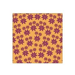 Purple And Yellow Flower Shower Satin Bandana Scarf by CircusValleyMall