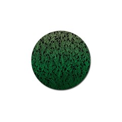 Green Ombre Feather Pattern, Black, Golf Ball Marker (4 Pack) by Zandiepants