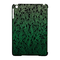Green Ombre Feather Pattern, Black, Apple Ipad Mini Hardshell Case (compatible With Smart Cover) by Zandiepants