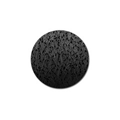 Grey Ombre Feather Pattern, Black, Golf Ball Marker (4 Pack) by Zandiepants