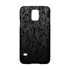 Grey Ombre Feather Pattern, Black, Samsung Galaxy S5 Hardshell Case  by Zandiepants