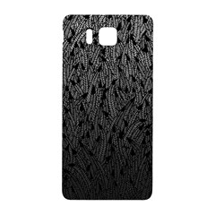 Grey Ombre Feather Pattern, Black, Samsung Galaxy Alpha Hardshell Back Case by Zandiepants