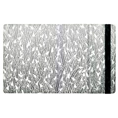Grey Ombre Feather Pattern, White, Apple Ipad 3/4 Flip Case by Zandiepants