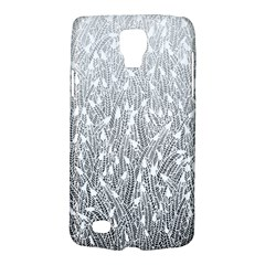 Grey Ombre Feather Pattern, White, Samsung Galaxy S4 Active (i9295) Hardshell Case by Zandiepants