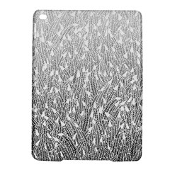 Grey Ombre feather pattern, white, Apple iPad Air 2 Hardshell Case by Zandiepants
