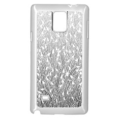Grey Ombre Feather Pattern, White, Samsung Galaxy Note 4 Case (white) by Zandiepants