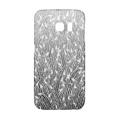 Grey Ombre Feather Pattern, White, Samsung Galaxy S6 Edge Hardshell Case by Zandiepants