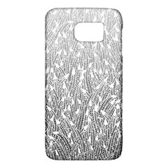 Grey Ombre Feather Pattern, White, Samsung Galaxy S6 Hardshell Case