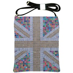 Multicoloured Union Jack Shoulder Sling Bags by cocksoupart