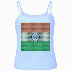 Indian Flag Baby Blue Spaghetti Tank by cocksoupart