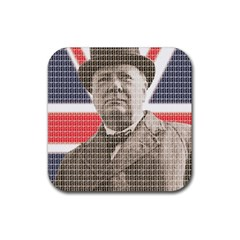 Winston Churchill Rubber Square Coaster (4 pack)  by cocksoupart