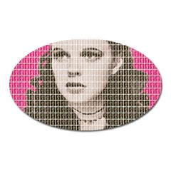 Over the Rainbow - Pink Oval Magnet by cocksoupart
