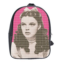 Over The Rainbow   Pink School Bags (xl)  by cocksoupart