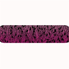 Pink Ombre Feather Pattern, Black, Large Bar Mat by Zandiepants