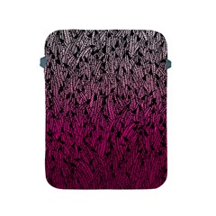 Pink Ombre Feather Pattern, Black, Apple Ipad 2/3/4 Protective Soft Case by Zandiepants