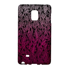 Pink Ombre Feather Pattern, Black, Samsung Galaxy Note Edge Hardshell Case by Zandiepants