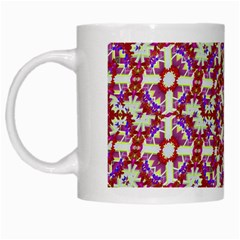 Boho Check White Mugs by dflcprints