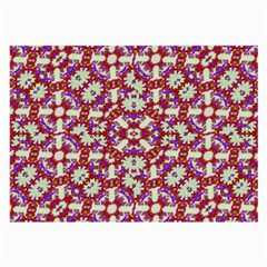Boho Check Large Glasses Cloth (2 Side) by dflcprints