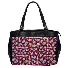 Boho Check Office Handbags by dflcprints