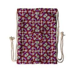Boho Check Drawstring Bag (small) by dflcprints