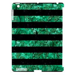 Stripes2 Black Marble & Green Marble Apple Ipad 3/4 Hardshell Case (compatible With Smart Cover) by trendistuff
