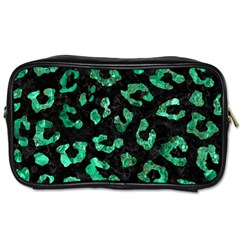 Skin5 Black Marble & Green Marble (r) Toiletries Bag (one Side) by trendistuff