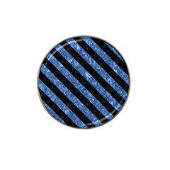 Stripes3 Black Marble & Blue Marble (r) Hat Clip Ball Marker (10 Pack) by trendistuff