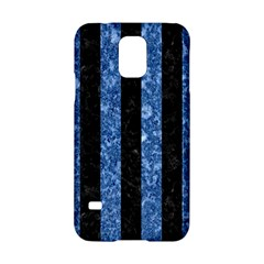 Stripes1 Black Marble & Blue Marble Samsung Galaxy S5 Hardshell Case  by trendistuff