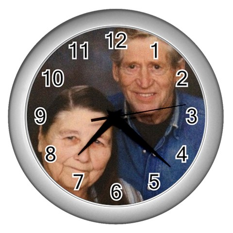 By Claudia   Wall Clock (silver)   Ule6hpuieyve   Www Artscow Com Front