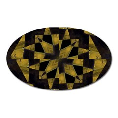 Bold Geometric Oval Magnet by dflcprints