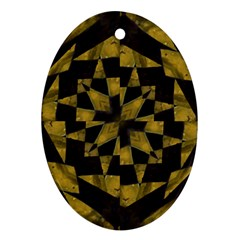 Bold Geometric Oval Ornament (two Sides) by dflcprints