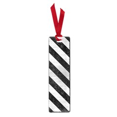 Stripes3 Black Marble & Silver Brushed Metal (r) Small Book Mark by trendistuff