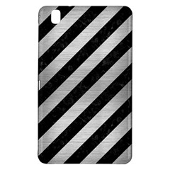 Stripes3 Black Marble & Silver Brushed Metal Samsung Galaxy Tab Pro 8 4 Hardshell Case by trendistuff