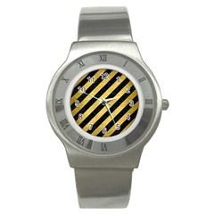 STR3 BK MARBLE GOLD Stainless Steel Watch by trendistuff