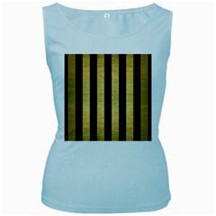 STR1 BK MARBLE GOLD Women s Baby Blue Tank Top by trendistuff