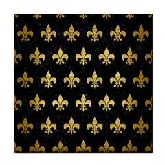 Royal1 Black Marble & Gold Brushed Metal (r) Tile Coaster by trendistuff