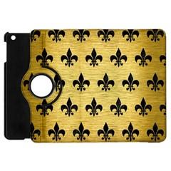 Royal1 Black Marble & Gold Brushed Metal Apple Ipad Mini Flip 360 Case by trendistuff