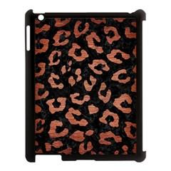 Skin5 Black Marble & Copper Brushed Metal (r) Apple Ipad 3/4 Case (black) by trendistuff