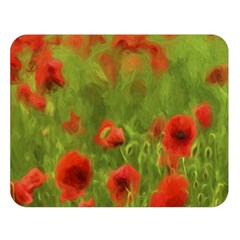 Poppy II - wonderful summer feelings Double Sided Flano Blanket (Large)  by colorfulartwork