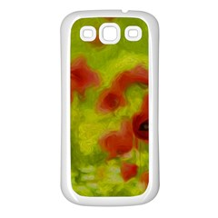 Poppy Iii Samsung Galaxy S3 Back Case (white) by colorfulartwork