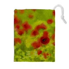 Poppy Iii Drawstring Pouches (extra Large) by colorfulartwork