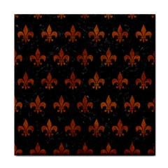 Royal1 Black Marble & Brown Burl Wood (r) Tile Coaster by trendistuff
