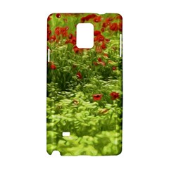 Poppy V Samsung Galaxy Note 4 Hardshell Case by colorfulartwork