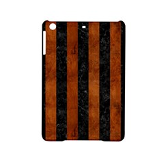 Stripes1 Black Marble & Brown Burl Wood Apple Ipad Mini 2 Hardshell Case by trendistuff